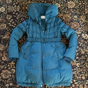 Down filled winter maternity coat